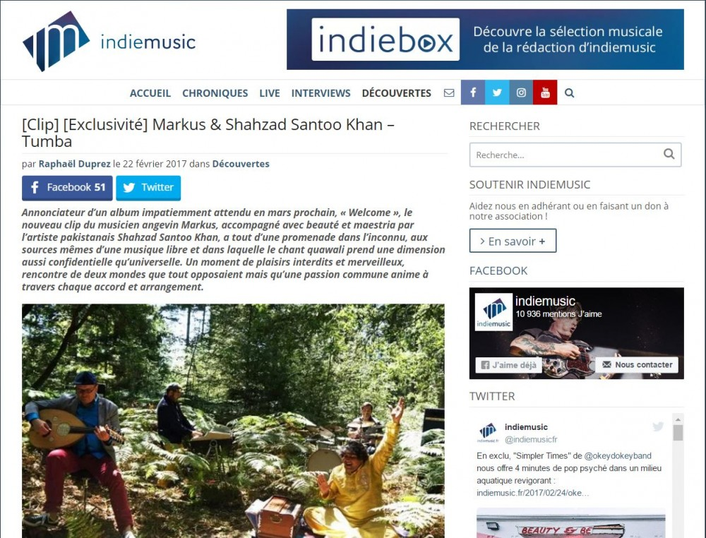 Exclusivité indiemusic | Markus & Shahzad